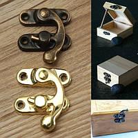 12 штук антикварные декоративные украшения подарок деревянный ящик запирающее защелки с винтом