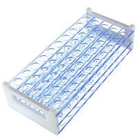 Пластичный держатель штатива для пробирок выдерживает поддержку 12-миллиметрового 13 мм пробирки 50 отверстий