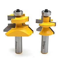 Drillpro RB12 2pcs 0,5 дюйма Сопряган паз и гребень V Notch фреза деревообрабатывающего Долото резак
