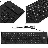 USB гибкая складная клавиатура кремния молчание для планшетного компьютера