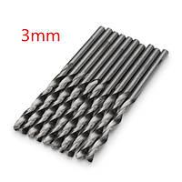 10шт 3.0 мм микро HSS Спиральные сверла цилиндрическим хвостовиком шнека бит для дрели электрической