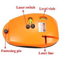 Форма мыши линии лазерный уровень инструмент планировщика с пузырьком уровня 5 МВт, фото 3