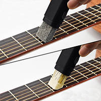 Двойная цель Гитарная басовая струна Finger Board Cleaner Очистка ржавчины Инструмент
