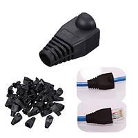 50 штук черная голова штепселя крышки багажника для кабеля rj45 cat5/6 модульная сеть соединителя