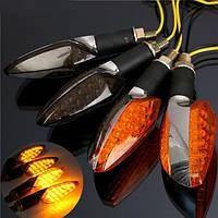12v универсальный мотоцикл 15 LED линз цвета серебра контрольной лампы сигнала поворота долго обращаются