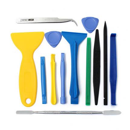 13 в 1 металл+пластик ремонт открытие подглядывать набор инструментов для мобильного телефона, фото 2