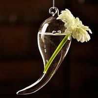 Висит символ форма цветка стеклянная ваза гидропонное растений