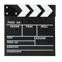Директор сцены видео фильм с ' хлопушкой ' tv шифера кинопленке вырезать Проп