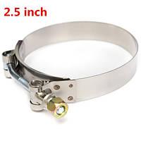 2.5inch т-болт хомуты крепления турбо труба силикон соединитель для шлангов из нержавеющей стали 304