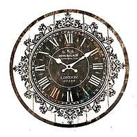 Стенной крестьянин года изготовления вина узора часов потертое художественное художественное оформление кафе домашнего офиса шика часо