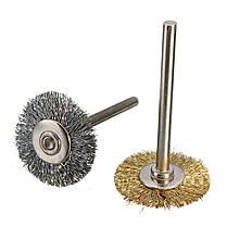 Сталь/медный провод щетки проволока колеса щетка для мясорубки Dremel вращательный инструмент инструмент для полировки, фото 2