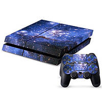 Наклейка для PS4 Play Station 4 Console+2Controller Cover
