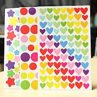 6 листов красочные Радуга наклейка дневник планировщик журнал альбомы фото
