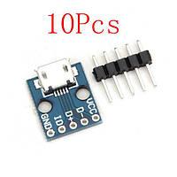 10pcs cjmcu Micro USB интерфейсная плата интерфейса Выключатель питания