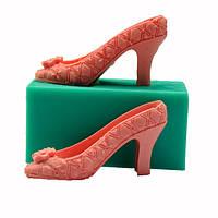 3d силикона высокой пятки формы помады торт леди обуви плесень