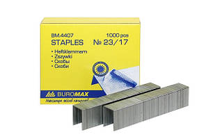 Скобы №23/17 BUROMAX BM-4407 (скрепл. до 150лист)