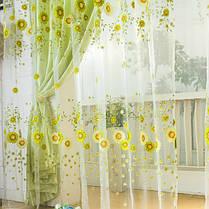 100x200cm подсолнечное тюль вуаль само окно экрана занавес окна спальни, фото 3