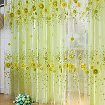 100x200cm подсолнечное тюль вуаль само окно экрана занавес окна спальни, фото 2