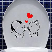 Водонепроницаемая туалетная стенная этикетка милая мультипликационная этикетка ночного горшка