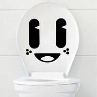 Мило большой глаз Мультфильм туалет стикер съемный стикер Closestool