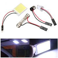 12В удара 2424 фишки LED внутреннее освещение панель T10 festoon автомобилей Лампа