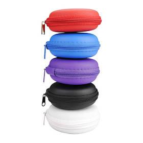 Малая круглая переносная сумка для хранения чехол для наушников кабель