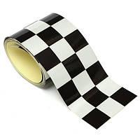 3-дюймовый черный белый клетчатый флаг винила ленты автомобиль мотоцикл велосипед наклейка на бак