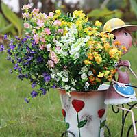Искусственный цветок гипсофилы 1 букет 6 филиалов свадьба украшения дома