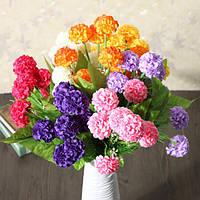 Искусственный ромашки хризантемы цветы из шелка цветочный букет 8 голов 7 цветов дома сад