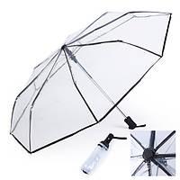 Прозрачная мода полный автомат три складные дождя зонтики