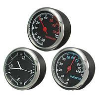 Механика термометр гигрометр часы реального времени стальной сердечник указатель для авто двигателя