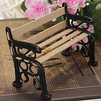 1:12 Деревянная скамья Black Metal Dollhouse Miniature Сад Аксессуары для мебели