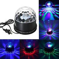 48 LED RGB Голос Активированный кристалл Волшебный Освещение сцены с эффектом шара KTV Club Disco Party