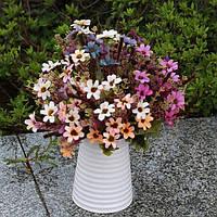 Искусственный ромашки шелковые цветы лист домой свадьбу садовый декор поделки