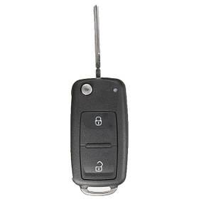 2 кнопки дистанционного ключа брелок чехол + uncut клинок для VW Т5 поло гольф - 1TopShop