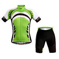 Wosawe коротким рукавом задействуя костюм спортивный костюм спортивной площадки с 4d гель унисекс зеленый
