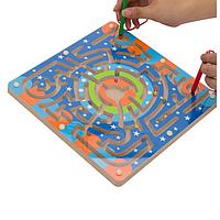 Деревянный магнитный лабиринт для развития образования игрушки