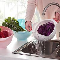 2-в-1 овощная фруктовая миска с дуршлагом кухня посуда