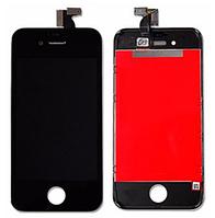 Дисплей (экран) для Apple iPhone 4S + с сенсором (тачскрином) черный