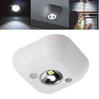 Мини беспроводная Ночная лампа с PIR датчиком движения и питанием от батареи Лампа в шкафе и кабинете