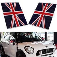 2шт Юнион Джек Флаг Великобритании винил зеркал наклейки для Mini Cooper
