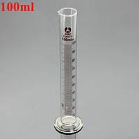100 мл стеклянный градуированный мерный цилиндр пробкой с круглым основанием и носиком