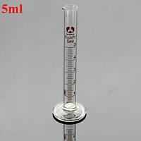 5 мл стеклянный градуированный мерный цилиндр пробкой с круглым основанием и носиком