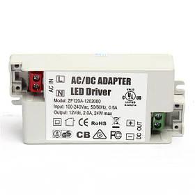 Адаптер AC/DC 24W 2A LED Водитель 12V Осветительные трансформаторы Блок питания для Светодиодный Лампа 1TopShop