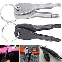 Портативные отвертки в виде ключей EDC Portable Phillips and Slotted Screwdriver Keychain Tool, фото 3