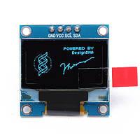 0.96 дюймов 4-контактный мск с I2C синий oLED дисплей модуль для Arduino