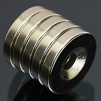 5шт N50 15x3mm потайной кольцо магниты 4мм отверстие редкоземельных магнитов неодим
