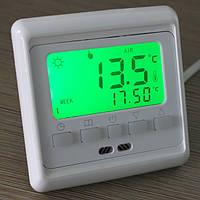 Кнопка ЖК-программируемый подогрев пола комнатный термостат пола контроль нагрева 0-35 ° C