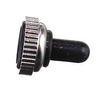 6 штырей вкл/выкл/вкл тумблер черный металл резиновый колпачок водонепроницаемый