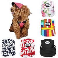 Холст \ летний малый любимчик собаки кота бейсбол козырек шляпу крышка ремешок щенка sunbonnet
